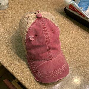 Vintage inspired ponytail baseball cap. Never worn